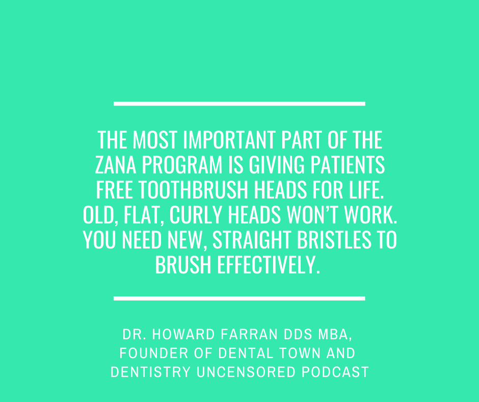 Inspirational Quote for Dentists by Dr. Howard Farran DDS MBA, Founder of Dental Town and Dentistry Uncensored Podcast, with white text and green background